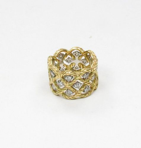 Estate, Buccellati, 18k yellow gold, diamond band ring