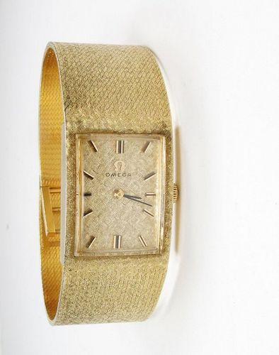 Vintage, Omega 14k yellow gold men's manual watch
