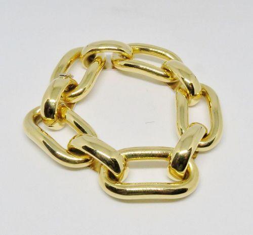 Large, Bvlgari, Bulgari, 18k gold link bracelet