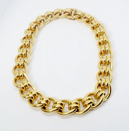 18k yellow gold chunky choker necklace