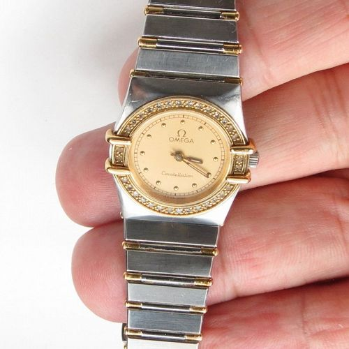 Omega Constellation stainless steel 18k gold ladies watch