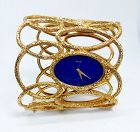 Piaget, 18k yellow gold, Lapis Lazuli watch bracelet