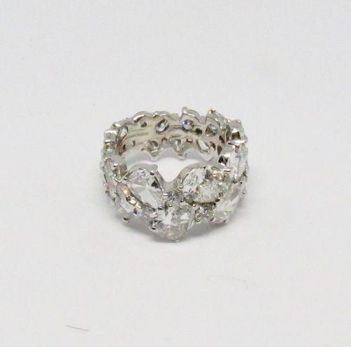 Platinum and 6.6 carats of diamonds eternity, wedding ring band