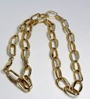 Estate, 14k yellow gold hand made chain necklace