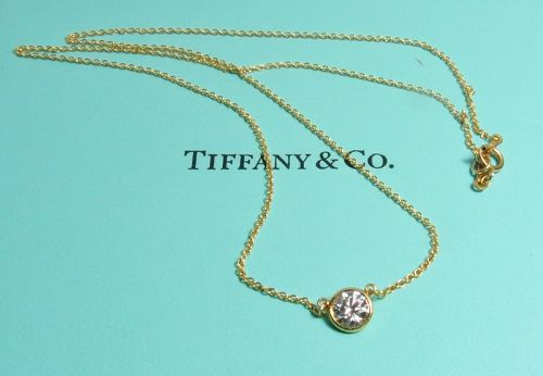 Elsa Peretti, Tiffany & Co, 18k gold diamond by the yard necklace