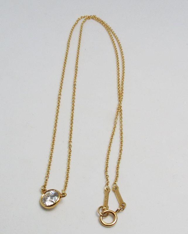 Elsa Peretti, Tiffany & Co, 18k gold diamond by the yard necklace