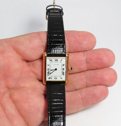 Vintage 18k gold Cartier, Tank unisex manual wind watch