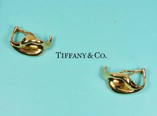 Tiffany & Co, Elsa Peretti, 18k yellow gold calla lily earrings