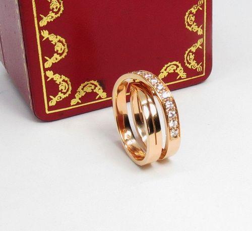 Diamond �tincelle de Cartier crossover ring in 18k rose gold