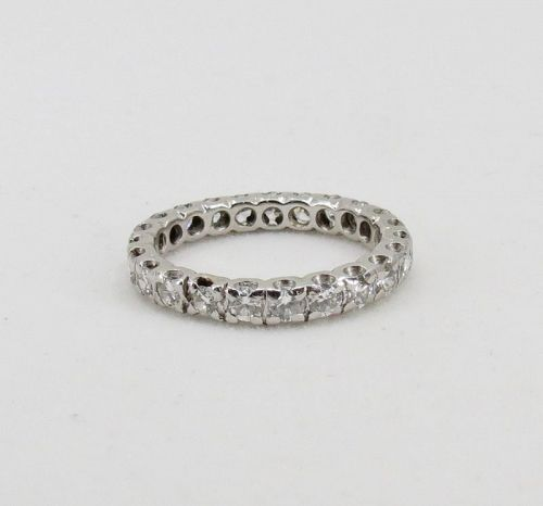 Platinum, 1.3 carats of diamonds eternity band ring