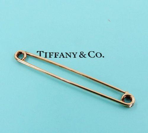 Vintage, Tiffany & Co 14k gold safety pin, brooch