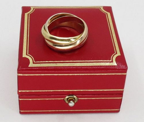 Cartier France, 18k gold trinity ring, band