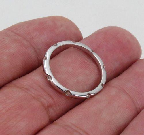 Eternity diamond band ring, 14k white gold