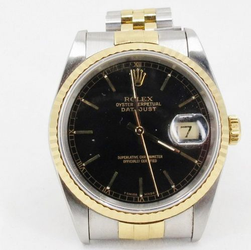 ROLEX Oyster Perpetual Datejust 18K Gold/Stainless Steel watch