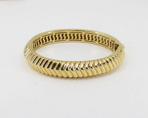 Tiffany & Co 18k yellow gold CORDIS bangle bracelet