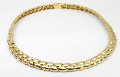 VAN CLEEF & ARPELS 18k yellow gold fancy link necklace
