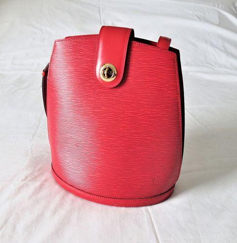 Louis Vuitton Cluny Epi shoulder bag leather Castilian Red Bucket Tote