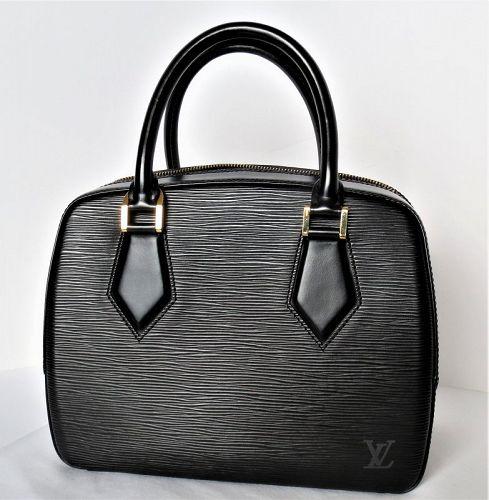 Louis Vuitton black epi leather Sablon handbag