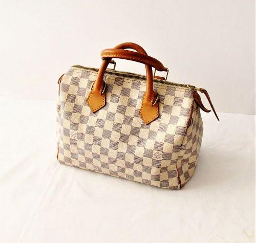Louis Vuitton Damier Azur canvas speedy bag satchel