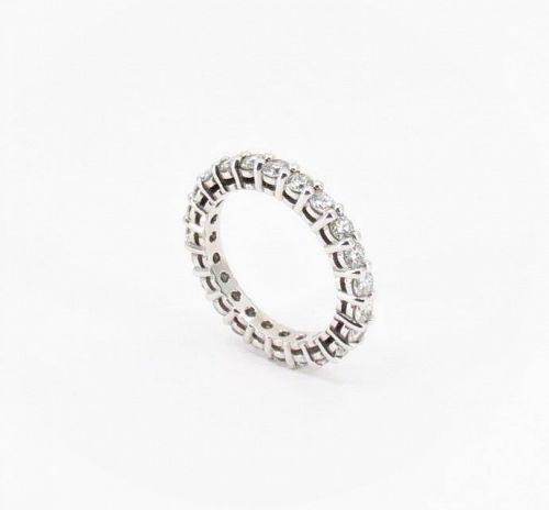 14k gold, 2.25ctw diamond wedding, eternity band ring