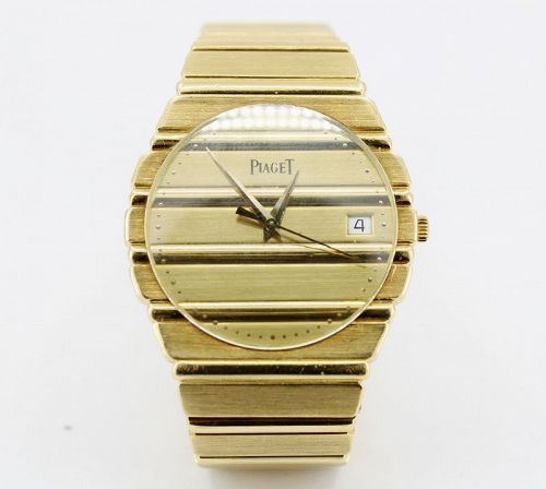 Men's Piaget Polo quartz watch in 18k yellow gold