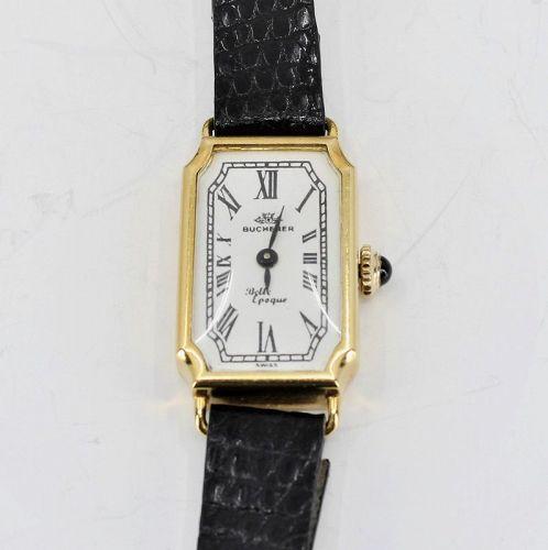Ladies Bucherer 18k yellow gold manual watch