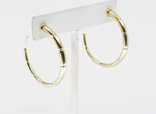 Large hoop earrings in 18k yellow gold signed MISENO
