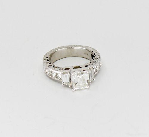 9.39Ct Diamond engagement wedding ring and band set in platinum