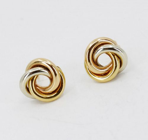 Retro, Bvlgari 18k gold trinity knot earrings
