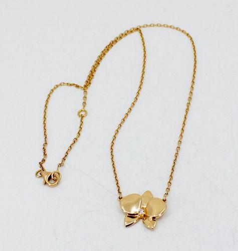 Cartier, Caresse D'orchidees Par diamond necklace in 18k rose gold