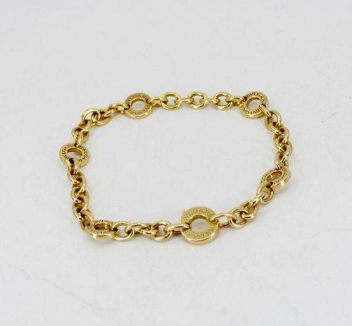 Bvlgari, Bulgari, circle chain link bracelet in 18k yellow gold