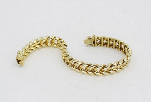 Tiffany & Co. link bracelet in 18k yellow gold