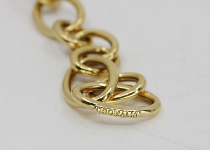 OROMALIA 18k gold, ebony wood cascade chain necklace