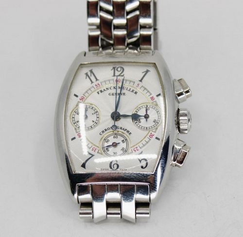 Franck Muller Cintree Curvex Chronograph Ladies Stainless Steel Watch