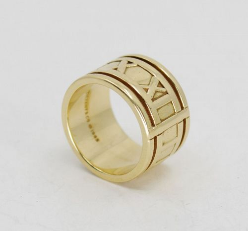 Tiffany & Co. 18k yellow gold band ring from the Atlas collection.