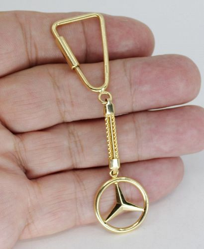 Mercedes Benz 14k yellow gold key chain or pendant