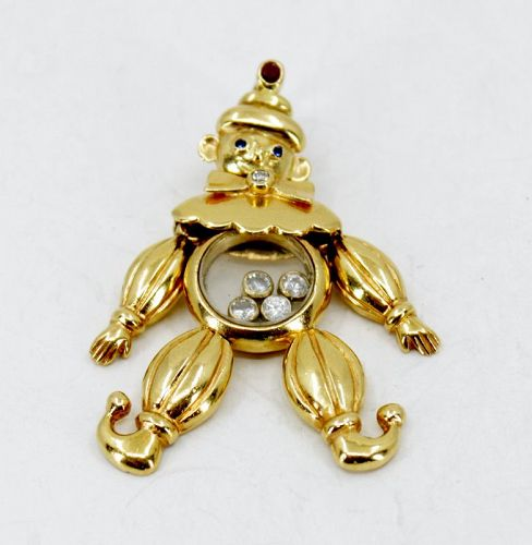 Large Chopard happy diamonds clown pendant in 18k gold