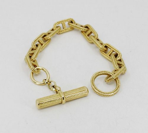 Craig Drake chaine d'ancre toggle chain bracelet in 18k gold