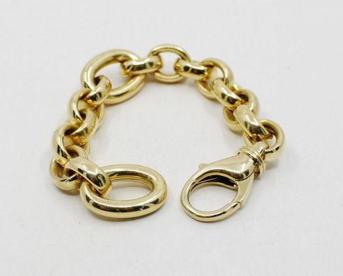Vintage chain link bracelet in 18k gold signed Brev