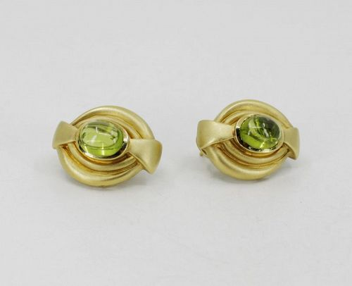 Vahe Naltchayan 18k yellow gold Peridot earrings