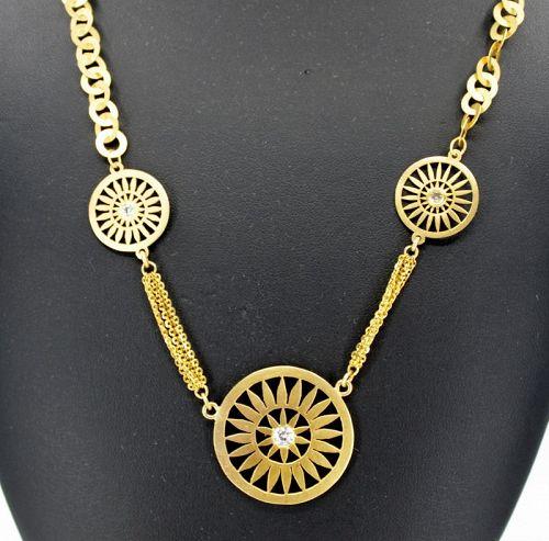 22k/18k gold diamond necklace signed Uno A Erre