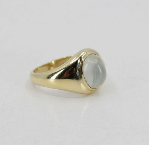 Fine vintage 14k gold moonstone gypsy ring