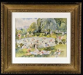 American watercolor painting by Martha Walter 1875-1976