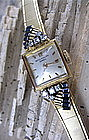 Vintage Patek Philippe 18K gold diamond sapphire watch