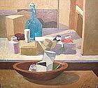 Modern still life painting by David Ratner 1922-2005