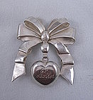 1940's Taxco, Mexico, William Spratling silver bow pin