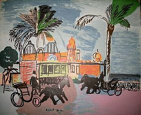 "original lithograph  ""Nice le Casino""  by Raoul Dufy"
