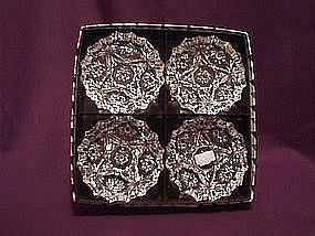"Fire King EAPC  4""  Ashtrays in gift box"
