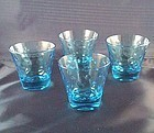 Capri Blue Dots Old Fashion Tumbler Set of 4