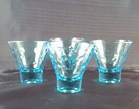 Capri Blue Dots Heavy Bottom Tumbler Set of 4